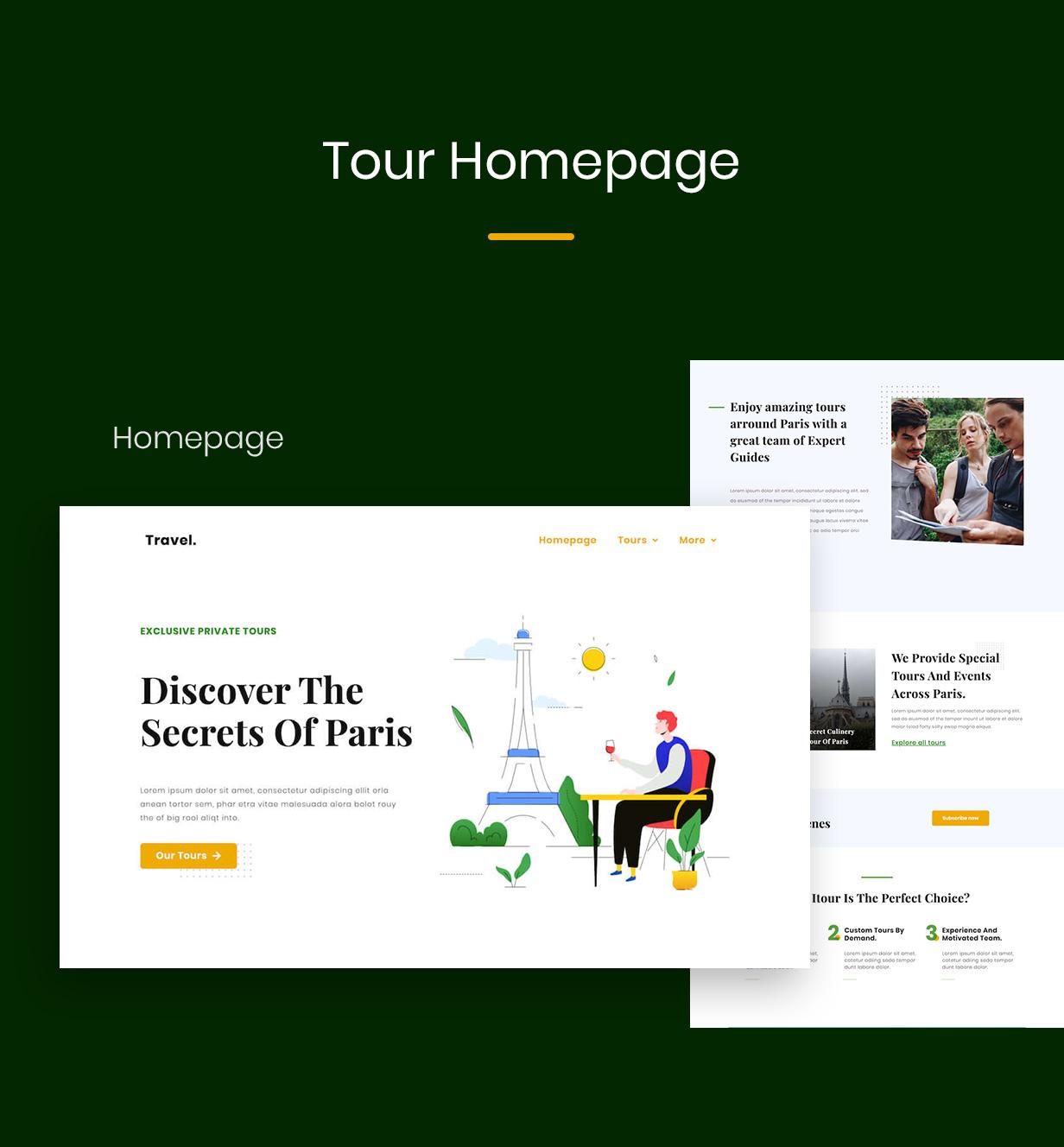 Touraza | Tour Elementor Template Kit - 1