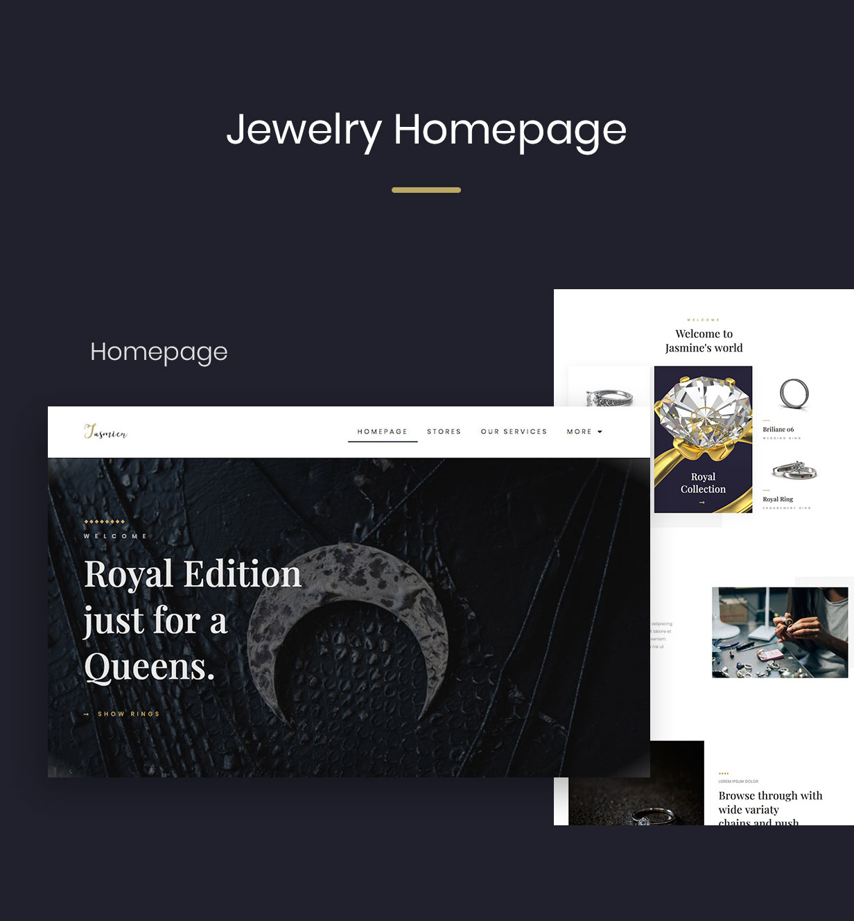 01-Homepage-5 Jewella  - Jewelry Elementor Template Kit theme WordPress