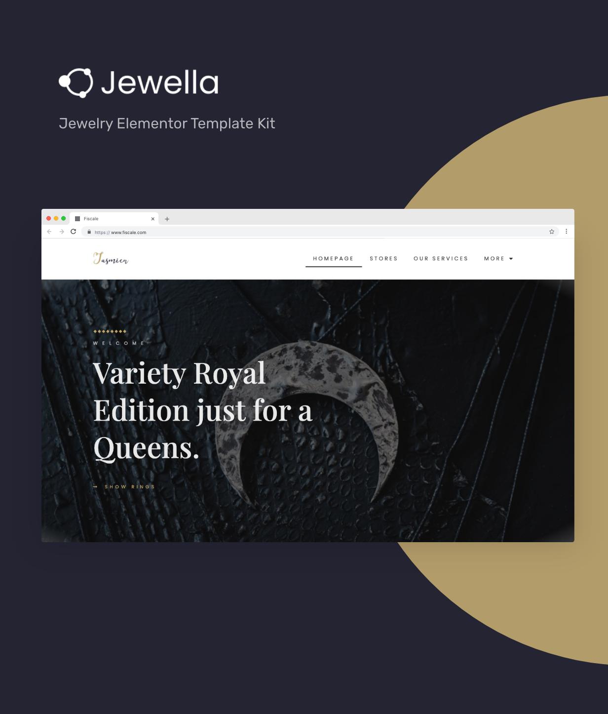 Jewella  - Jewelry Elementor Template Kit - 1