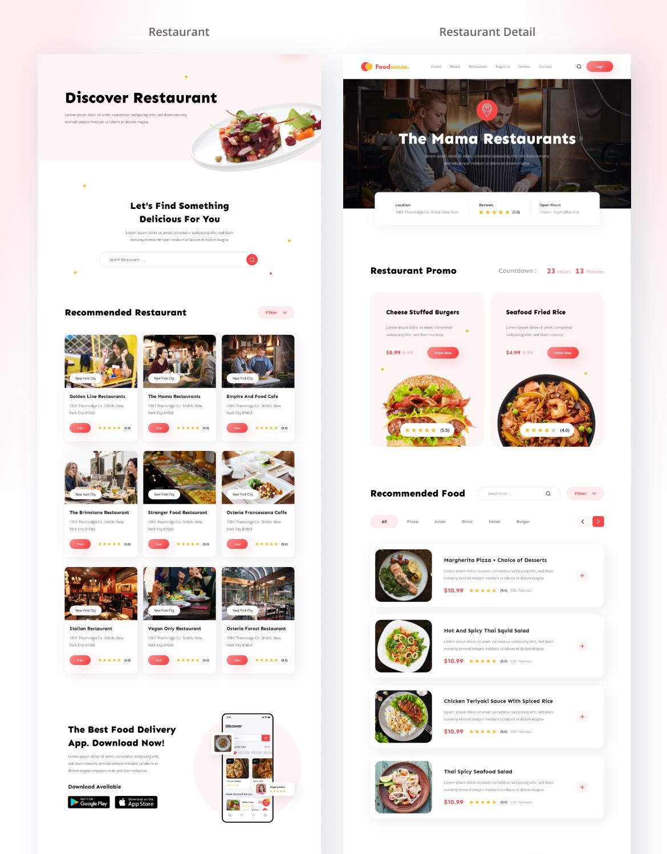 FoodSense - Food delivery website template kit - 3