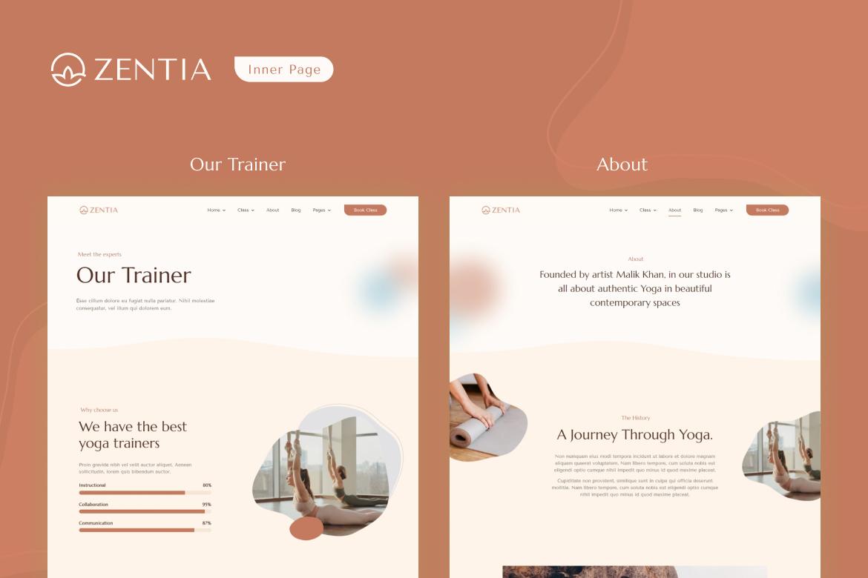 Zentia   Yoga Teacher & Studio Elementor Template Kit - 4